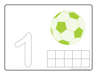 Modeling dough activity placemats-Soccer balls-1