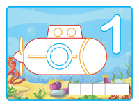 Modeling dough activity placemats-Submarines-1