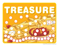 Modeling dough activity placemats-Treasure
