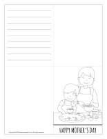 Mother's Day cards-black and white