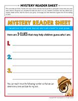 Mystery reader sheet