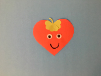 Paper heart strawberries-4