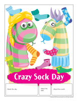 Perpetual calendar-Crazy Sock Day