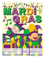 Perpetual calendar-Mardi Gras