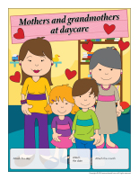 Perpetual calendar-Mothers and grandmothers at daycare