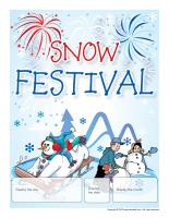 Perpetual calendar-Snow festival
