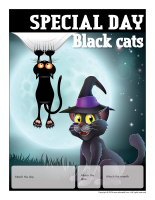 Perpetual calendar-Special Day-Black cats