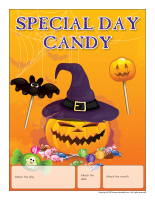 Perpetual calendar-Special Day-Candy