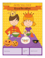 Perpetual calendar-Special day-Royal breakfast
