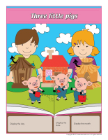 Perpetual calendar-Three little pigs