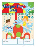 Perpetual calendar-Water Fun Day