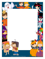 Picture frame-Halloween characters
