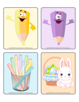 Picture game-Easter Pastel colors