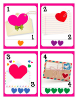 Playing cards-Valentine's Day-Love-letters