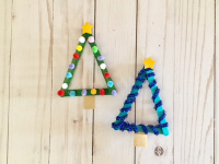 Popsicle Stick-Christmas Trees-5