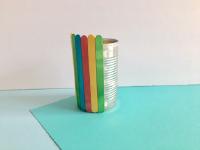 Popsicle stick flowerpot-2
