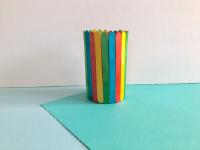 Popsicle stick flowerpot-3