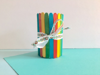 Popsicle stick flowerpot-4