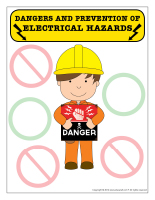 Poster-Dangers and prevention of electrical-hazards
