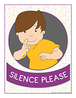 Poster-Silence please
