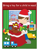 Poster-Toy drive-Christmas Sharing