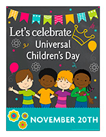 Poster-Universal Children's Day-November 20th