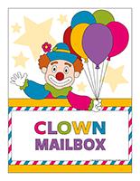 Poster clown mailbox