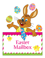 Poster mailbox-Easter