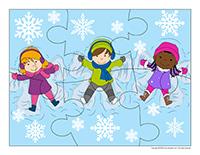 Puzzles-Snowflakes