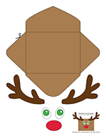 Reindeer envelopes
