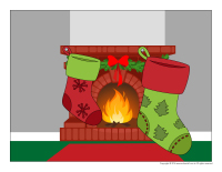 Scene-Christmas traditions-Christmas stocking