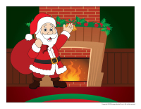 Scene-Christmas traditions-Santa Claus