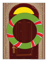 Scene-Christmas traditions-Wreath