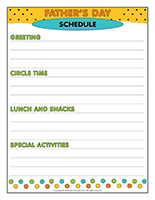 Schedule-Father's Day