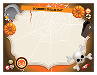 Schedule-Halloween party Blank