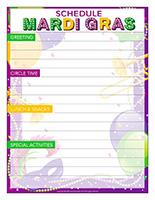 Schedule-Mardi Gras Day