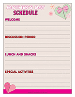 Schedule-Mother's Day 2019