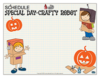 Schedule-Special Day-Crafty Robot