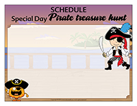 Schedule-Special day-Pirate treasure hunt