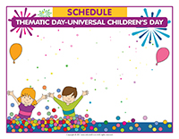 Schedule Thematic Day-Universal Children's Day