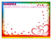 Schedule-Valentine's Day-A celebration
