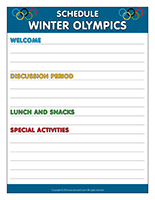 Schedule-Winter Olympics