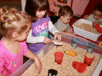 Sensory bin surprises used for arts & crafts-1