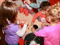 Sensory bin surprises used for arts & crafts-5