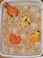 Sensory bin surprises used for arts & crafts-9