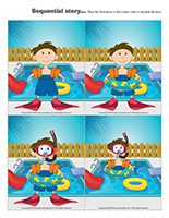Sequential story-Swimming