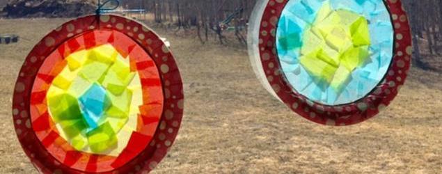 Paper Plate Sun Catchers