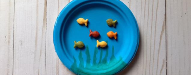 Paper plate goldfish bowl