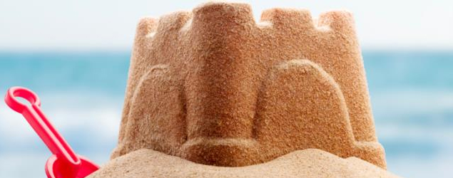 Magic sand for sandcastles