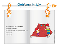 Songs & rhymes-Christmas in July